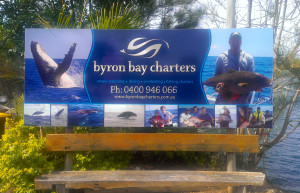Byron Charters Sign